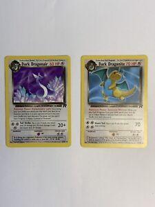 Dark Dragonite 22/82 Team Rocket Pokemon Card Non Holo NEAR MINT ~ 2 Cards~