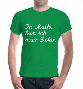 Herren-Unisex-Kurzarm-T-Shirt-In-Mathe-bin-ich-nur-Deko-Mathematik