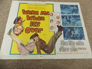 WAKE-ME-WHEN-IT-039-S-OVER-1960-ERNIE-KOVACS-ORIGINAL-1-2-SHEET-POSTER-22-034-BY28-034