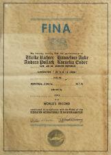 Olympic Games 1976 World Record Diploma Swimming