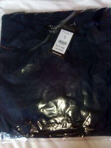 Men-039-s-BNWT-Dark-Navy-Blue-Plain-Tshirt-Size-S-From-New-Look