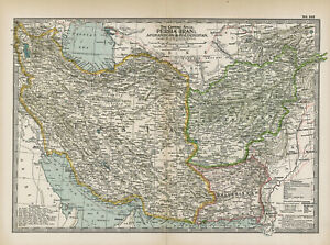 1897 Persia [Iran], Afghanistan & Baluchistan by The Century Co,