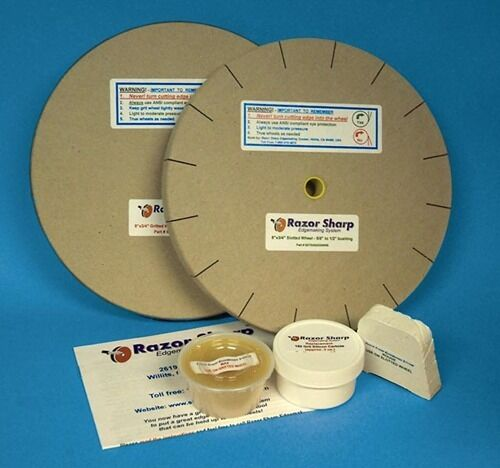RAZOR SHARP EDGEMAKING SYSTEM SHARPENING WHEELS 8 inch X 1 1/4 inch