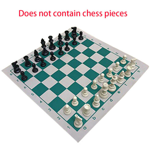 Portable Chess Board Roll Up Draughts Educational Game Tournament PU Leather