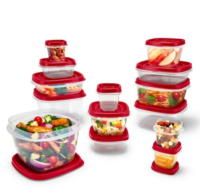 Rubbermaid Food Storage Containers Easy Find Vented Lids Home Kitchen 24  Pieces