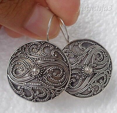 Traditional Design Solid Silver, 925 Bali Handcrafted Earring 30731