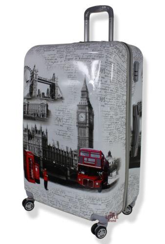 Léger Cabine 4 roues spinner London Repères imprimés valises bagages