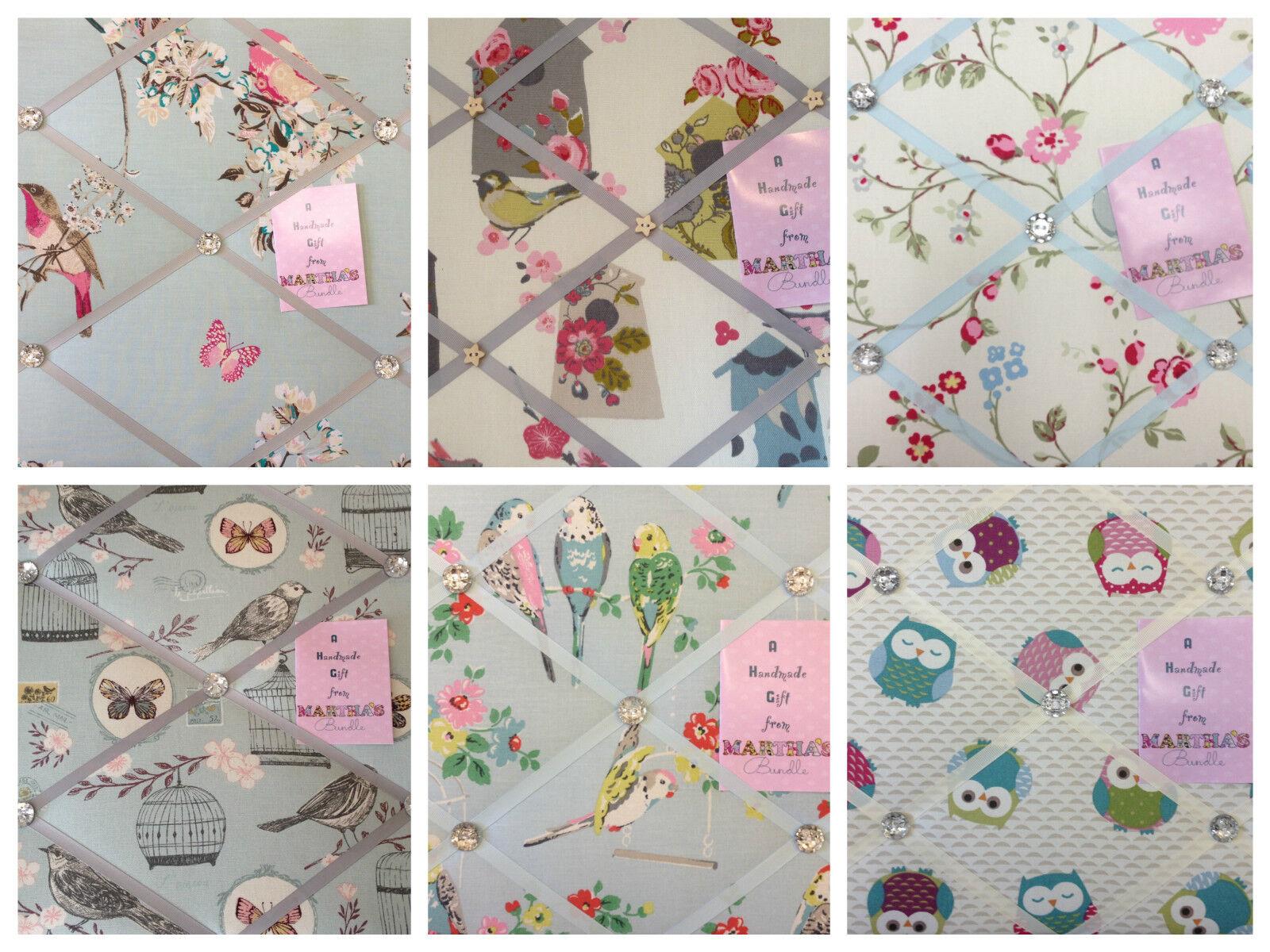 Birds Handmade Pin memo Notice Photo board Gift Bettroom choice fabrics Handmade