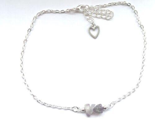 Dainty Gemstone Anklet Ankle Bracelet Healing Crystal Love Hope Gift