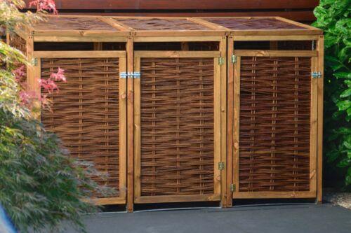 Mülltonnen-Versteck 2 x 240l Mülltonnen-Box Weide aufklappbare Verkleidung