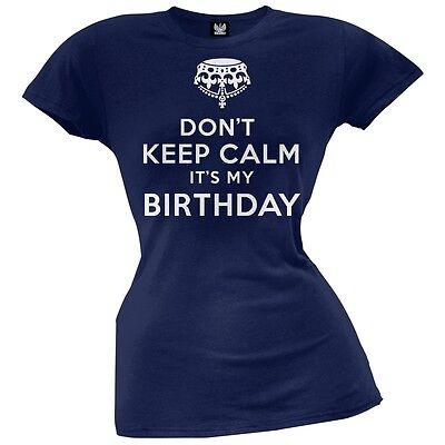 Keep Calm It/'s My Birthday War Poster Happy Joke Crown Party Is Juniors T-Shirt