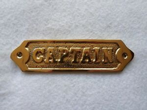 Solid-Brass-034-Captain-034-Door-Sign-Captain-039-s-Quarters
