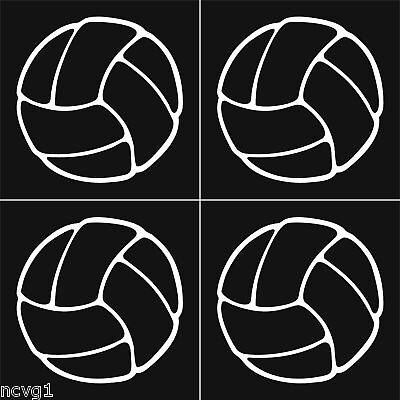 4 VOLLEYBALL Stickers Sticker//Decal volley ball