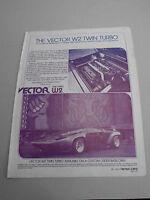 Vector W2 TwinTurbo - Faltblatt Prospekt Katalog - 1981