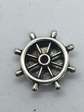 Boat Wheel Charm Fits Keep Collective Color: Antique SIlver