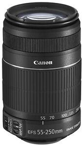 Canon-EF-S-55-250-mm-f-4-5-6-stabilisateur-d-039-image-Zoom-Teleobjectif-utilise
