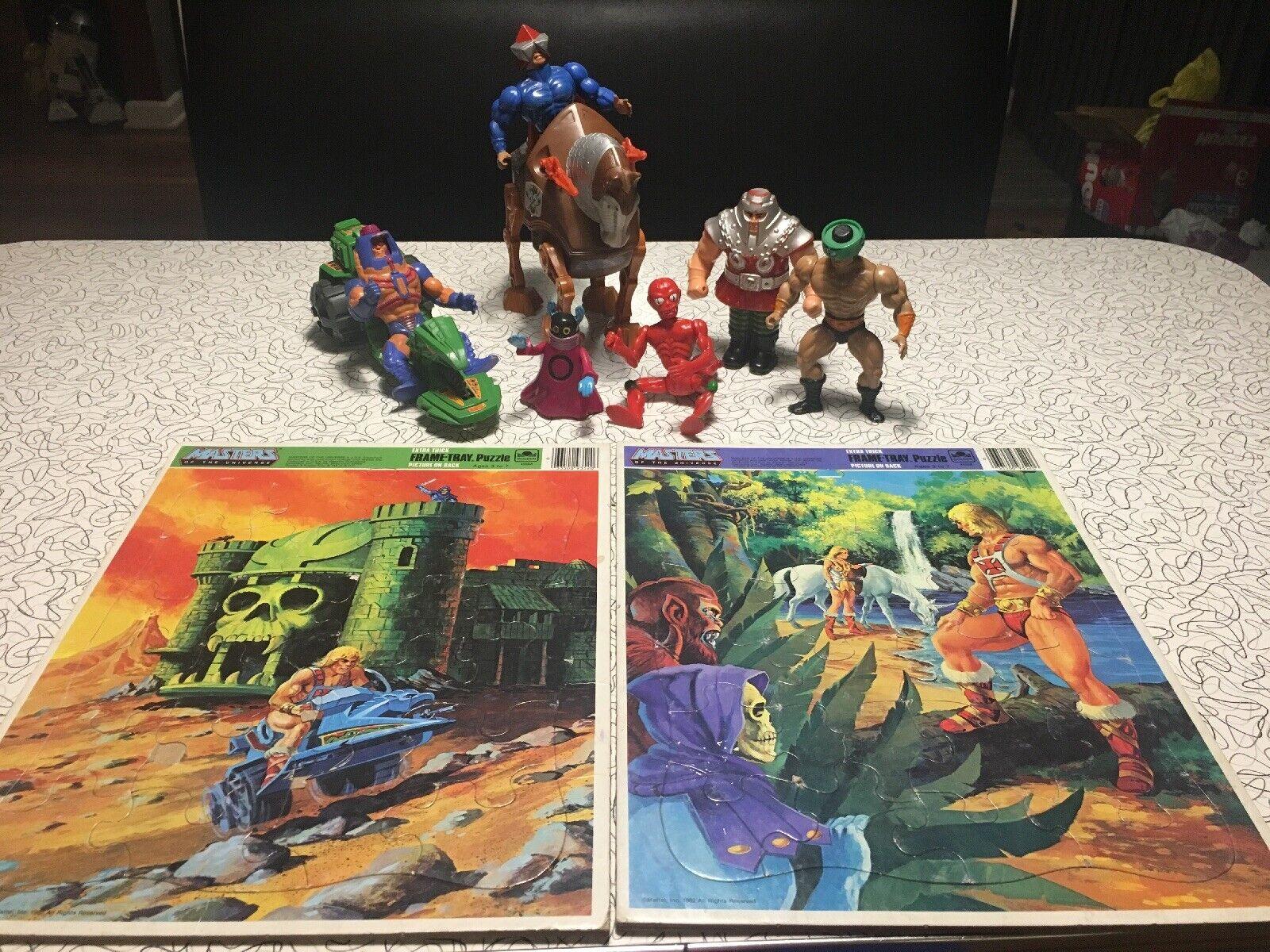 Vintage He-Man Action Figure Lot de 8 MOTU Masters of  the Universe 2 Plateau Puzzle  qualité officielle