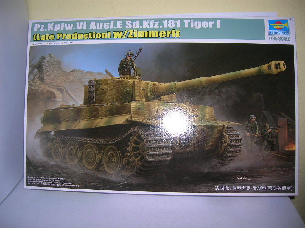 Trumpeter Pz.Kpfw.VI Ausf.E Sd.Kfz.181 Tiger Tiger Tiger I Late Production 1 35 Kit 09540  | Berühmter Laden  164666