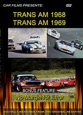 TRANS AM RACING FILMS 68-69 DVD BOSS MUSTANG CAMARO AMC