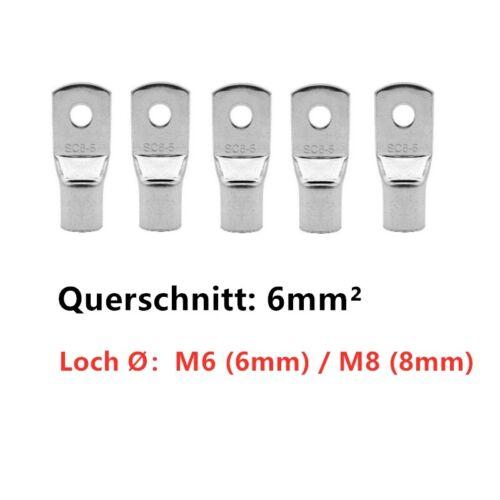 M4 M6 M8 M10 Rohrkabelschuhe Kabelschuhe Ring Kuper unisoliert 4,0 mm² 50 mm²
