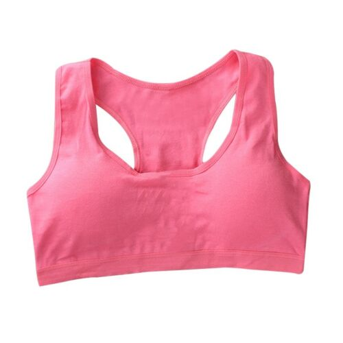 Girls Sports Bra Padded Crop Top Teens Tank Vest Intimates Underwear Free Size