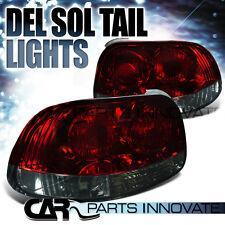 Fit 1993-1997 Honda del Sol Red/Smoke Tail Lights Rear Brake Lamps