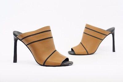 NWOB$995 Brunello Cucinelli 100/%Leather Monili LaceUp Beaded Mule Heel 37//7 A176