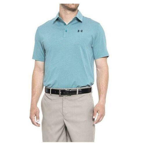 NEW MENS UNDER ARMOUR ELEVATED HEATHER POLO STRIPES SHIRT SIZE 3X 1242758 478