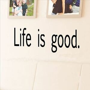 Details About Huhome Pvc Wall Stickers Wallpaper English Poem Life Is Good English Classroom E