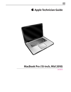 apple macbook pro 15 inch mid 2010 technician guide service manual rh ebay com macbook pro mid 2010 user manual macbook pro 13 mid 2010 manual