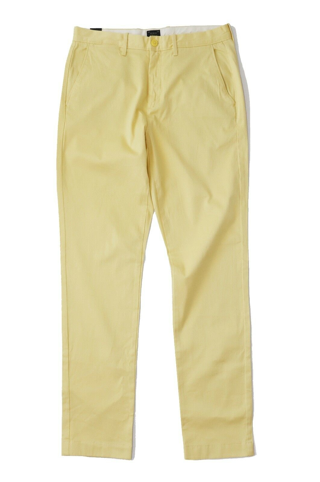 J.Crew Men's 34 32 - NWT - Sun-Faded Yellow 770 Fit Cotton Stretch Pants