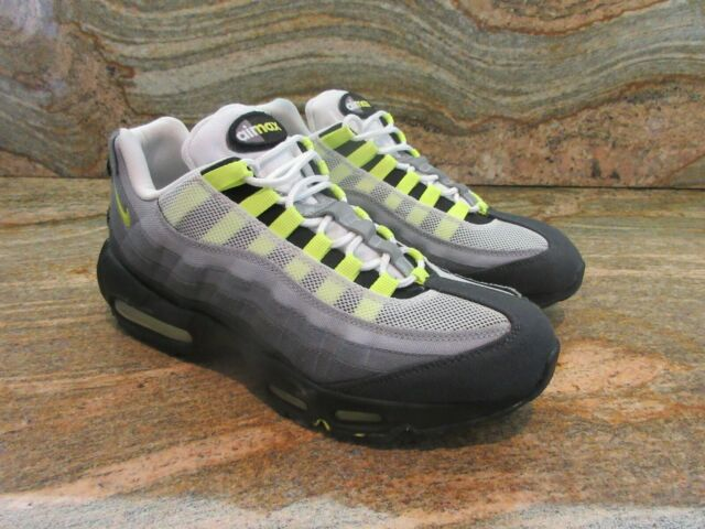 2015 Nike Air Max 95 V SP SZ 9 White Neon Yellow Volt Black Patch OG 747137 170