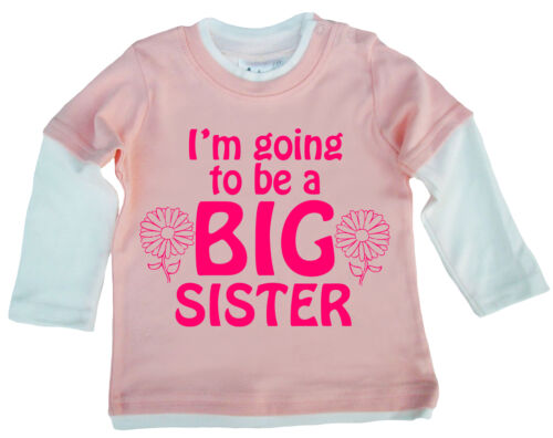 New Sister Top I M Going To Be A Big Sister Cute Baby Girl Skater