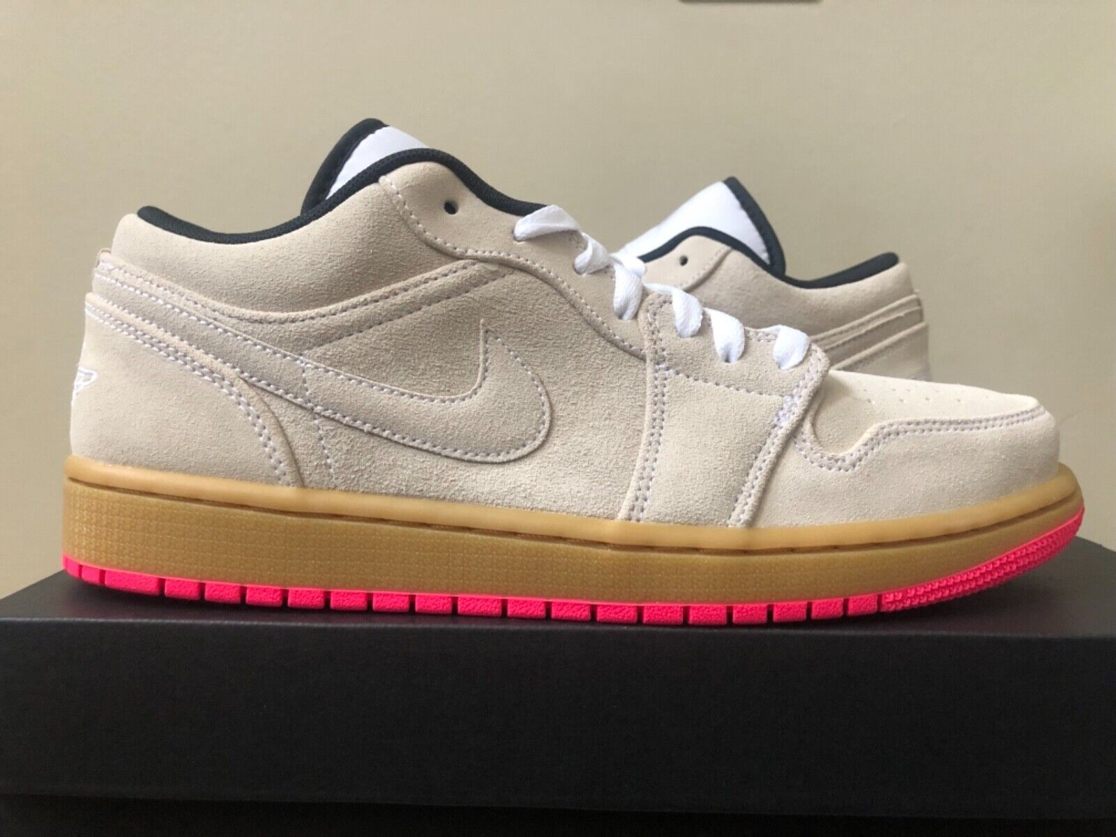 4d62f2c3d2c9 Air Jordan 1 Gum Pink 553558-119 Size 7-14 100% Authentic Low Brown ...