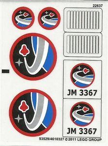 LEGO Sticker Sheet for Set 7649 (64399)   Brick Owl - LEGO ...   Lego Space Sticker Sheets