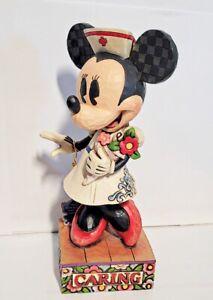 "Disney Jim Shore Minnie Mouse Nurse Caring is Courageous Figurine 8"""