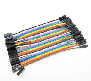 40pcs dupont Wire 10cm 2.54mm female to female 1p-1p cable Jumper