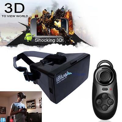 Virtual Reality 3D Glasses for iPhone Google Cardboard + Controller Gamepad #ATL