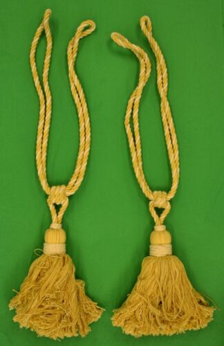 """Pair of Rope Twist Curtain Tassels"""