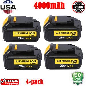4PCS-For-DeWalt-DCB200-20V-18-Volt-Max-XRP-Lithium-Battery-DCB201-DCB203-DCB205
