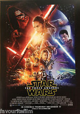 Cinema Poster: STAR WARS THE FORCE AWAKENS 2015 (Mini One Sheet) Harrison Ford