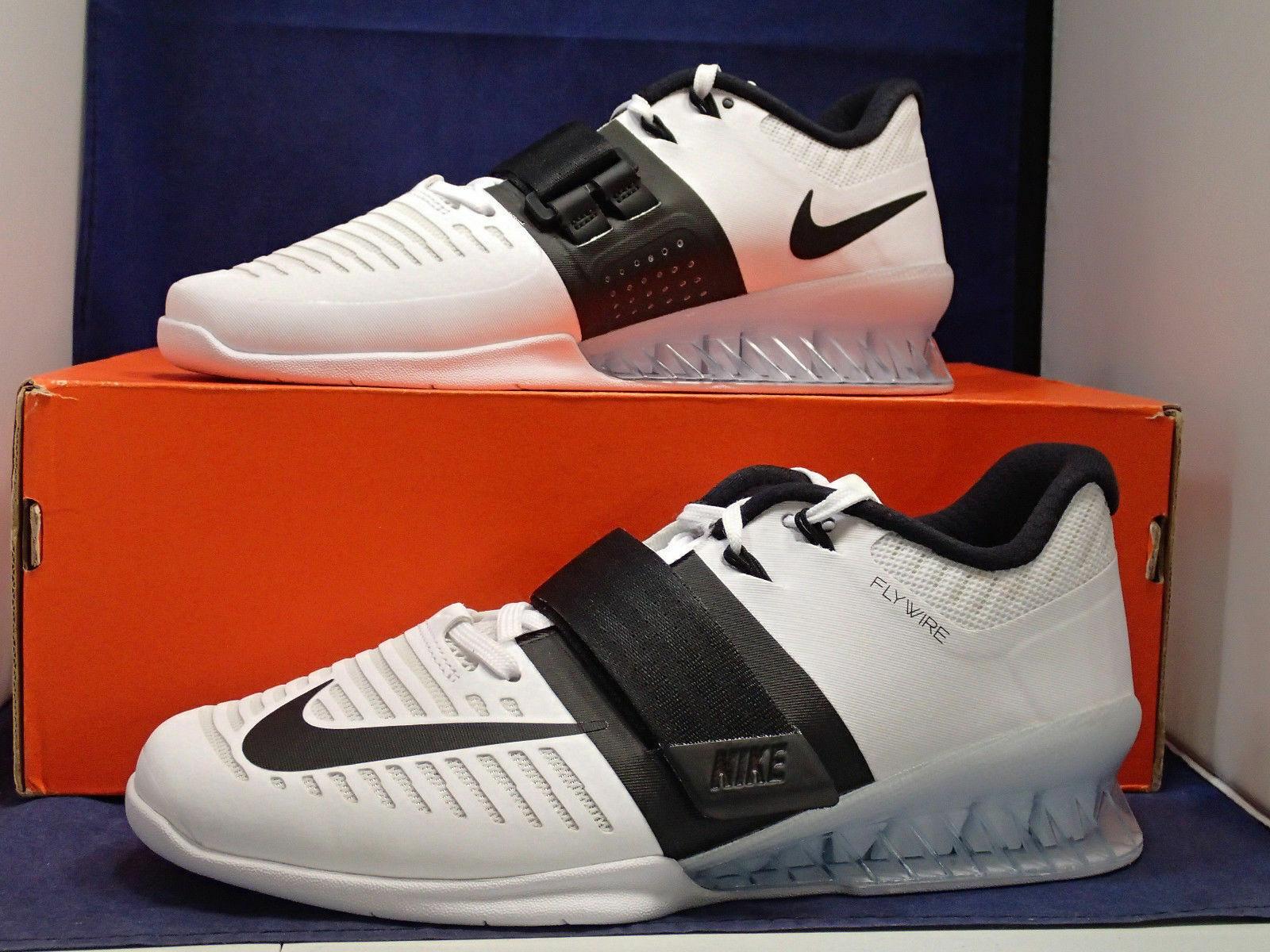 Nike Romaleos 3 3 3 Weightlifting Training shoes White Black (852933-101) Sz 13 cc161b