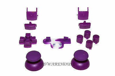 Purple PS3 Controller Thumbstick DPad L1/R1 L2/R2 Triggers Buttons Complete Set