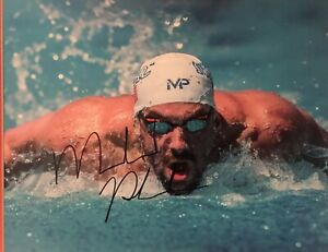 Details About Michael Phelps Most Decorated Olympian Autographed 8x10 Photo Includes Coa