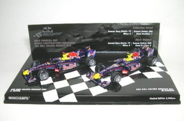 Set rouge Bull racing rb6 constructers world champion 2010