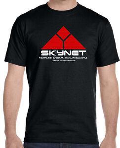Skynet-Cyberdyne-Systems-Terminator-Men-039-s-T-Shirt