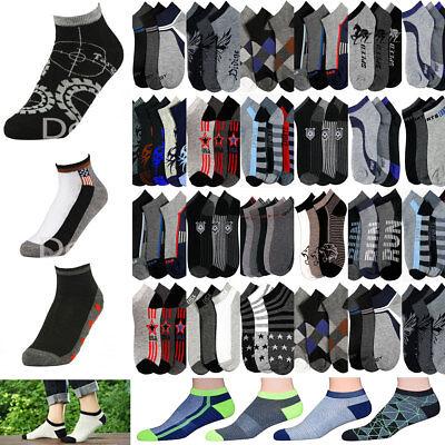 12~120 pairs Men/'s Women Solid Plain White NO SHOW Socks Wholesale Lots 6-8 9-11