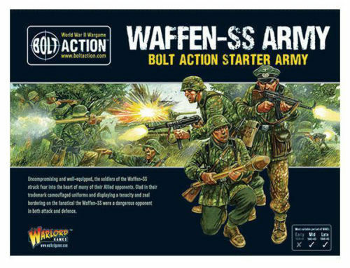 Bolt Action  Waffen SS Starter Army Brand New   Shrink Wrap   Free Ship