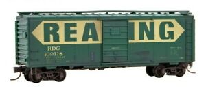 Reading-40-039-Standard-Boxcar-Weathered-Micro-Trains-MTL-020-52-177-N-Scale
