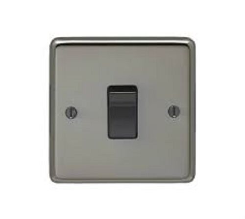 Eurolite Black Nickel 10A Single Light Switch 1-Gang 2-Way